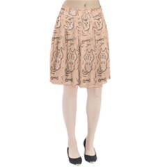 Cat Background Pleated Skirt