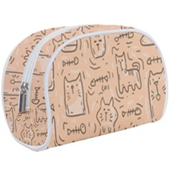Cat Background Makeup Case (large) by Bejoart