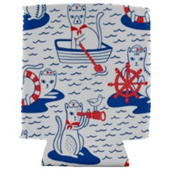 Nautical Cats Seamless Pattern Can Holder by Bejoart