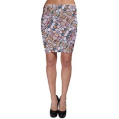 Rounded Stones Print Motif Bodycon Skirt by dflcprintsclothing