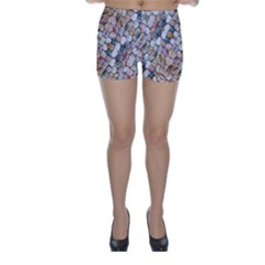 Rounded Stones Print Motif Skinny Shorts by dflcprintsclothing