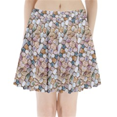 Rounded Stones Print Motif Pleated Mini Skirt by dflcprintsclothing