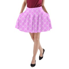 Rivera Royale Pink A-line Pocket Skirt