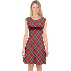 Scottish And Celtic Pattern - Braveheard Is Proud Of You Capsleeve Midi Dress by DinzDas