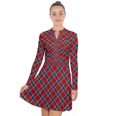 Scottish And Celtic Pattern - Braveheard Is Proud Of You Long Sleeve Panel Dress by DinzDas