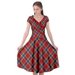Scottish And Celtic Pattern - Braveheard Is Proud Of You Cap Sleeve Wrap Front Dress by DinzDas