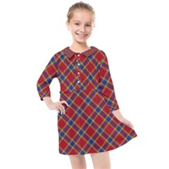 Scottish And Celtic Pattern - Braveheard Is Proud Of You Kids  Quarter Sleeve Shirt Dress by DinzDas