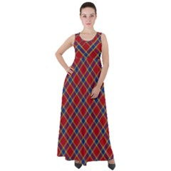 Scottish And Celtic Pattern - Braveheard Is Proud Of You Empire Waist Velour Maxi Dress by DinzDas