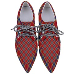 Scottish And Celtic Pattern - Braveheard Is Proud Of You Pointed Oxford Shoes by DinzDas
