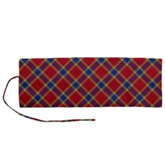 Scottish And Celtic Pattern - Braveheard Is Proud Of You Roll Up Canvas Pencil Holder (m) by DinzDas