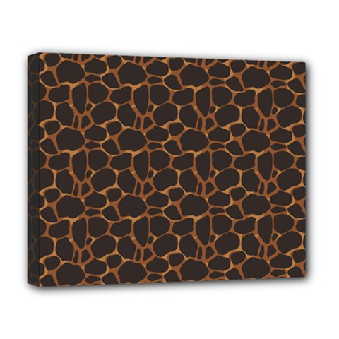 Animal Skin - Panther Or Giraffe - Africa And Savanna Deluxe Canvas 20  X 16  (stretched) by DinzDas