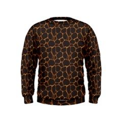 Animal Skin - Panther Or Giraffe - Africa And Savanna Kids  Sweatshirt by DinzDas