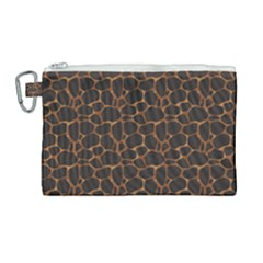 Animal Skin - Panther Or Giraffe - Africa And Savanna Canvas Cosmetic Bag (large) by DinzDas