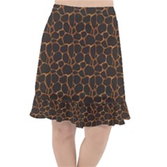 Animal Skin - Panther Or Giraffe - Africa And Savanna Fishtail Chiffon Skirt by DinzDas