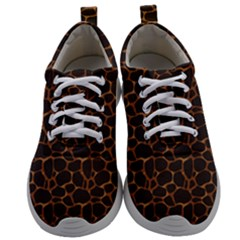 Animal Skin - Panther Or Giraffe - Africa And Savanna Mens Athletic Shoes by DinzDas