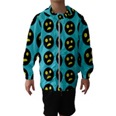 005 - Ugly Smiley With Horror Face - Scary Smiley Kids  Hooded Windbreaker by DinzDas