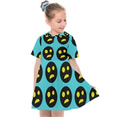 005 - Ugly Smiley With Horror Face - Scary Smiley Kids  Sailor Dress by DinzDas
