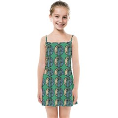 Bamboo Trees - The Asian Forest - Woods Of Asia Kids  Summer Sun Dress by DinzDas