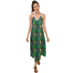 Bamboo Trees - The Asian Forest - Woods Of Asia Halter Tie Back Dress  by DinzDas