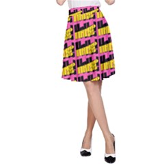Haha - Nelson Pointing Finger At People - Funny Laugh A-line Skirt by DinzDas