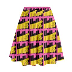 Haha - Nelson Pointing Finger At People - Funny Laugh High Waist Skirt by DinzDas