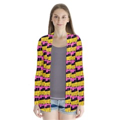 Haha - Nelson Pointing Finger At People - Funny Laugh Drape Collar Cardigan