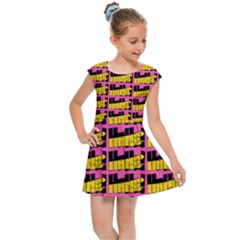 Haha - Nelson Pointing Finger At People - Funny Laugh Kids  Cap Sleeve Dress by DinzDas