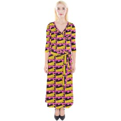 Haha - Nelson Pointing Finger At People - Funny Laugh Quarter Sleeve Wrap Maxi Dress by DinzDas