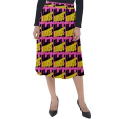 Haha - Nelson Pointing Finger At People - Funny Laugh Classic Velour Midi Skirt  by DinzDas