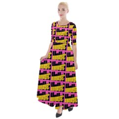 Haha - Nelson Pointing Finger At People - Funny Laugh Half Sleeves Maxi Dress by DinzDas