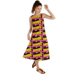 Haha - Nelson Pointing Finger At People - Funny Laugh Summer Maxi Dress by DinzDas