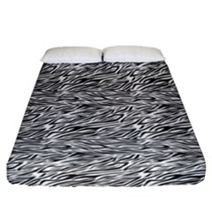 Zebra Pattern - Zebras And Horses - African Animals Fitted Sheet (california King Size) by DinzDas