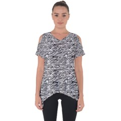 Zebra Pattern - Zebras And Horses - African Animals Cut Out Side Drop Tee by DinzDas