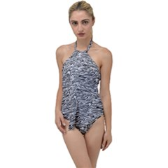 Zebra Pattern - Zebras And Horses - African Animals Go With The Flow One Piece Swimsuit by DinzDas