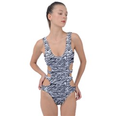 Zebra Pattern - Zebras And Horses - African Animals Side Cut Out Swimsuit by DinzDas