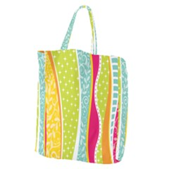 Abstract Lines Giant Grocery Tote by designsbymallika