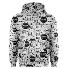 Cute Cat Faces Pattern Men s Core Hoodie