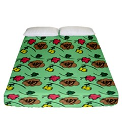 Lady Bug Fart - Nature And Insects Fitted Sheet (california King Size) by DinzDas