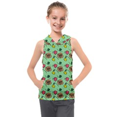 Lady Bug Fart - Nature And Insects Kids  Sleeveless Hoodie by DinzDas