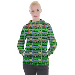 Game Over Karate And Gaming - Pixel Martial Arts Women s Hooded Pullover by DinzDas