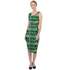 Game Over Karate And Gaming - Pixel Martial Arts Sleeveless Pencil Dress by DinzDas