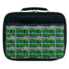 Game Over Karate And Gaming - Pixel Martial Arts Lunch Bag by DinzDas