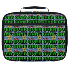 Game Over Karate And Gaming - Pixel Martial Arts Full Print Lunch Bag by DinzDas