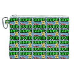 Game Over Karate And Gaming - Pixel Martial Arts Canvas Cosmetic Bag (xl) by DinzDas