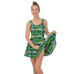 Game Over Karate And Gaming - Pixel Martial Arts Inside Out Casual Dress by DinzDas
