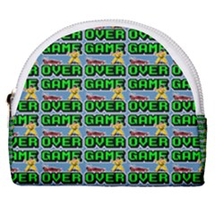 Game Over Karate And Gaming - Pixel Martial Arts Horseshoe Style Canvas Pouch by DinzDas