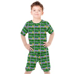 Game Over Karate And Gaming - Pixel Martial Arts Kids  Tee And Shorts Set by DinzDas