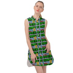 Game Over Karate And Gaming - Pixel Martial Arts Sleeveless Shirt Dress by DinzDas