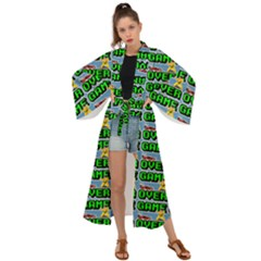 Game Over Karate And Gaming - Pixel Martial Arts Maxi Kimono by DinzDas