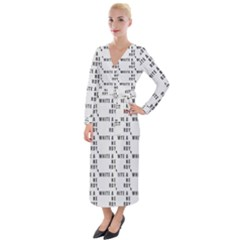 White And Nerdy - Computer Nerds And Geeks Velvet Maxi Wrap Dress by DinzDas